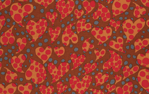 "Brandon Mably PWBM033 Disco Dot Brown Kaffe Fassett Collective Designer Quilting 18"" BTHY Rowan Westminster Half Yard 18"" Quilt Fabric HY"