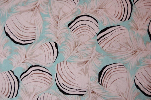 "Martha Negley PWMN088 Duck Feathers Mint Green Farmington Floral Quilting 18"" BTHY Nature Rowan Westminster Half Yard Quilt Fabric HY BHY"