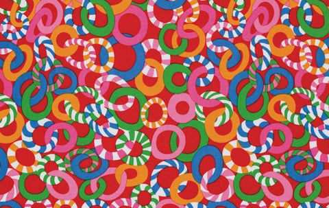 "Brandon Mably PWBM040 Jolly Red REDXX Kaffe Fassett Collective Designer Quilting 18"" BTHY Rowan Westminster Half Yard 18"" Quilt Fabric HY"