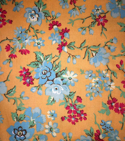 "Sweet Remembrance Connecting Threads Floral Super-Combed Cotton SOFT Rare Designer Quilting 18"" BTHY Half Yard Quilt Fabric HY Retired New"