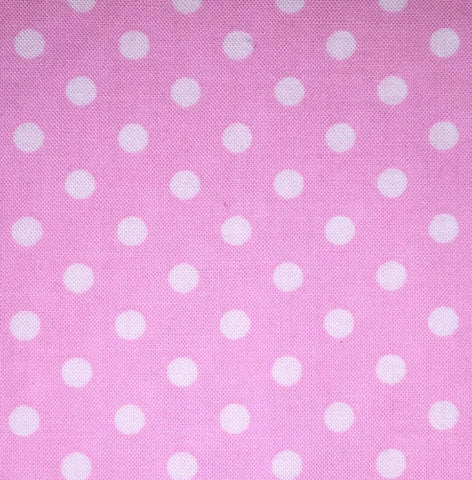 "Michael Miller Dumb Dot Pink White Polka C-2490 C2490 New Rare Designer Quilting 18"" BTHY Rowan Westminster Half Yard 18"" Quilt Fabric HY"