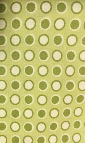 "Clothworks Textiles Farmgirl's Garden Polka Dot Green Joined At the Hip Retired Designer Quilting 18"" Half Yard Quilt Fabric HY Retired New"