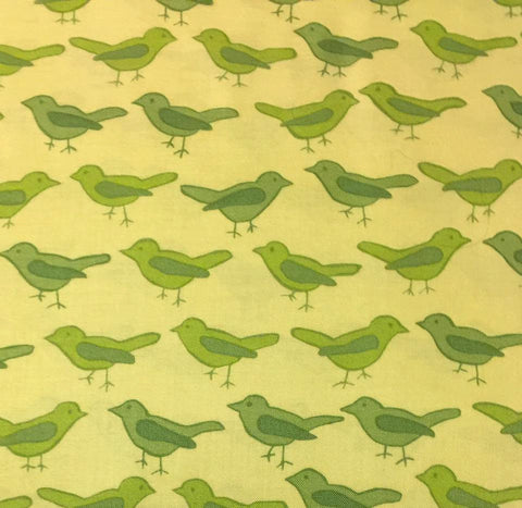 "Nest Birds Aviary Green Valori Wells Free Spirit VW26 Retired Designer Quilting 18"" BTHY Rowan Westminster Half Yard 18"" Quilt Fabric HY"