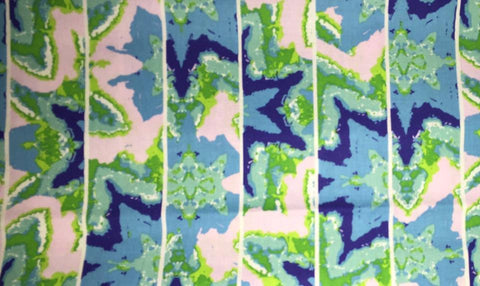 "Kaleidoscope Blue PWFS007 Shift New Rare Free Spirit Floral Designer Quilting 18"" BTHY Rowan Westminster Half Yard 18"" Quilt Fabric HY"