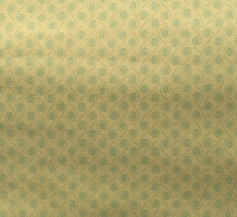 "Anna Griffin WIndham Fabrics Lulu Collection 26699 YELLOW Lime Scroll Designer Quilting 18"" BTHY Half Yard Quilt Fabric HY Retired New"