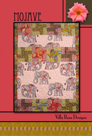 "MOJAVE 42""x57"" FQ Fat Quarter Scrap Friendly Beginner Patchwork Quilt Quilting Lap Throw size Pattern Villa Rosa Fryer"