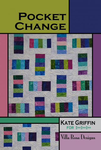 "POCKET CHANGE 40"" Beginner Patchwork Wall Crib Quilt Quilting Pattern 5"" Charm Square Scrap Friendly Villa Rosa Pat Fryer Kate Griffin"