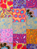 "CLOUD NINE 54""x70"" Patchwork Easy Fast Quilt Top Kit In A DAY + binding Quilting Fabric Kit Binding Brandon Mably Philip Jacobs Negley Woven"