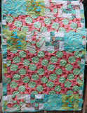 MOJAVE A 42x57 Patchwork Easy Fast Quilt Top Kit In a Day w/ binding Quilting Fabric Kit Amy Butler Teri Mangat Valori Wells Eclectic Modern