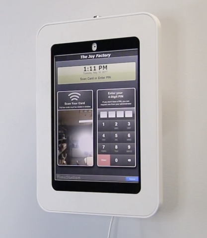 How to setup an iPad tablet time clock with the Elevate II Wall Mount