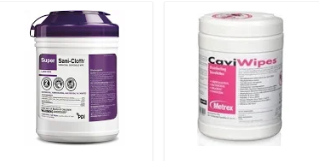 Cavi-wipes Sani-Clothes clinic grade cleaning wipes for healthcare