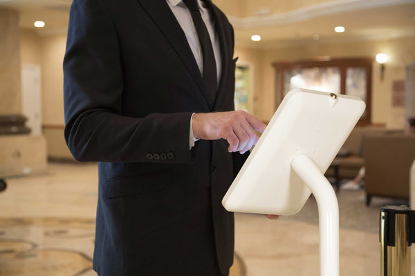 tablet check-in terminal self service for hotels