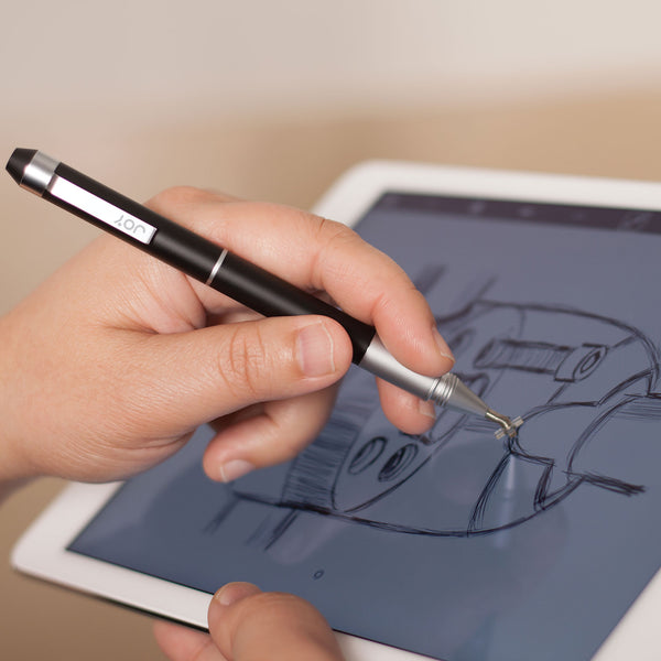 styluses - Pinpoint X-Spring Precision Stylus & Pen (Black) - The Joy Factory