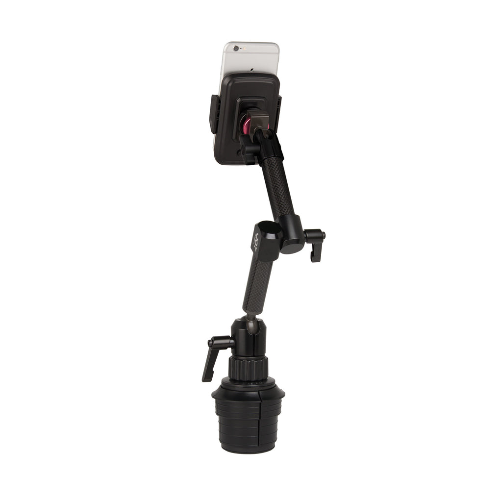 "MagConnect Universal S1 Cup Holder Mount for Smartphone 2.25"" - 3.5"" in width - The Joy Factory - 1"