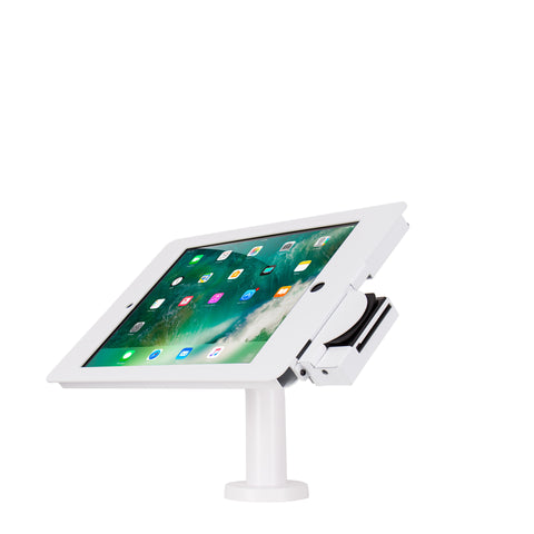 "kiosks - Elevate II POS Wall | Countertop Kiosk with MagTek eDynamo Bracket for iPad Pro 12.9"" 2nd (White) - The Joy Factory"