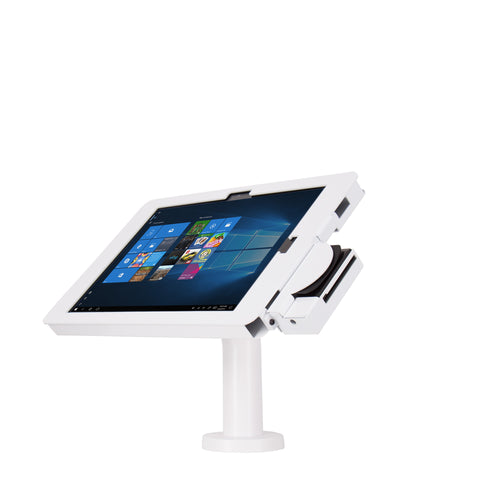 kiosks - Elevate II POS Wall | Countertop Kiosk with MagTek eDynamo Bracket for Surface Pro | 4 | 3 (White) - The Joy Factory