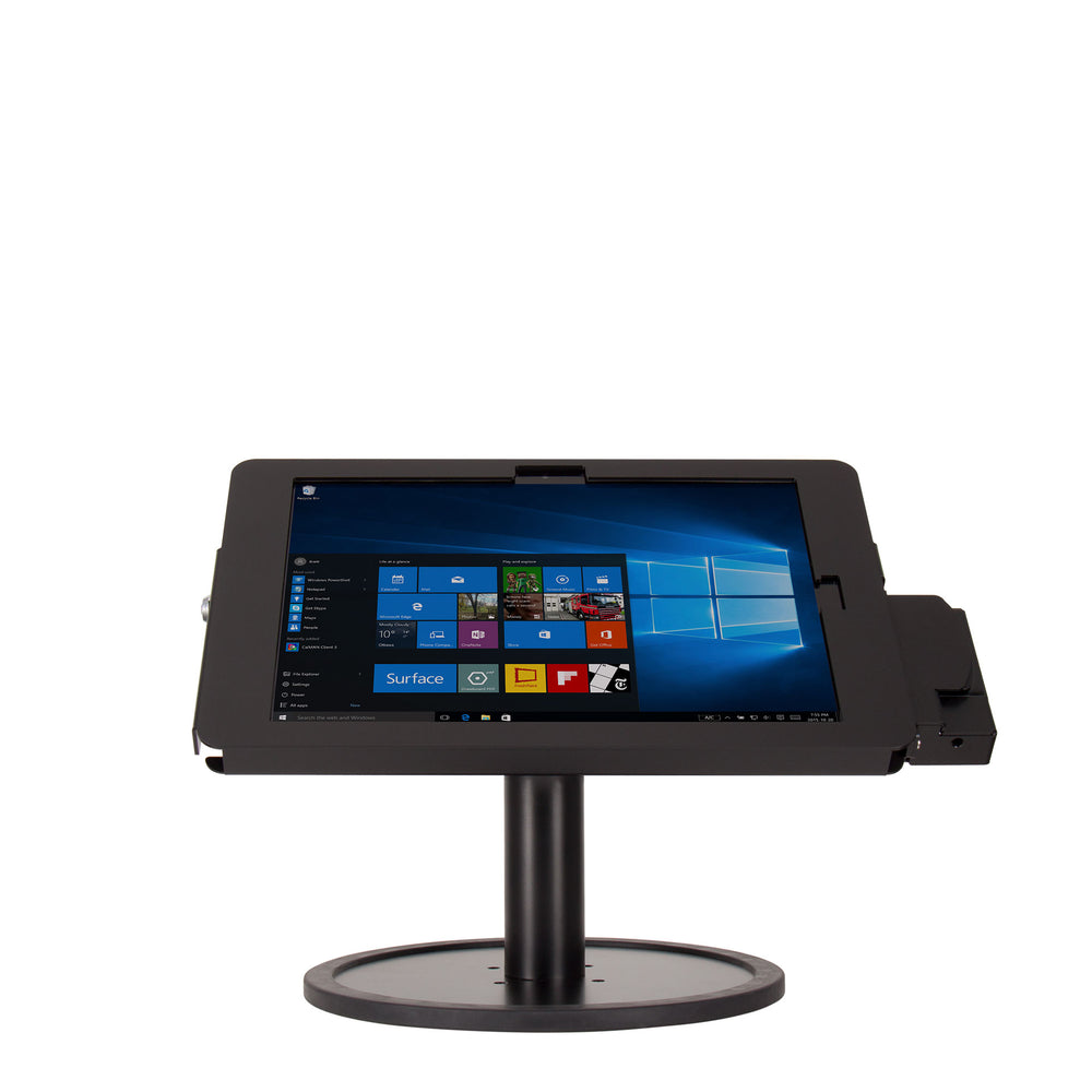 kiosks - Elevate II POS Countertop w/ MagTek eDynamo Bracket for Surface Pro 7 | 6 | 5 | 4 (Black) - The Joy Factory