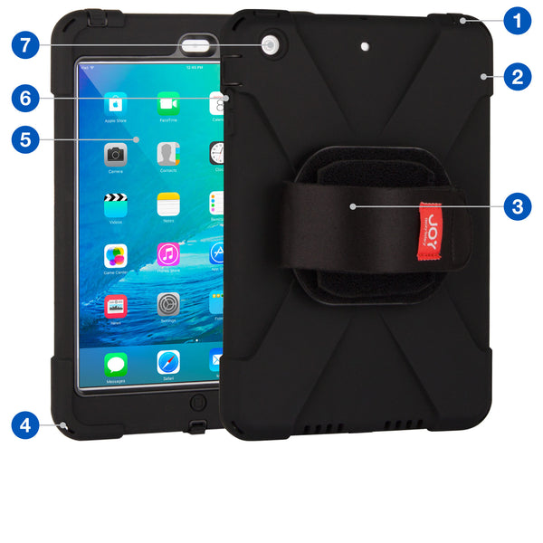 aXtion Bold M Case w/ Universal Hand Strap for iPad mini 3/2/1 - The Joy Factory - 1