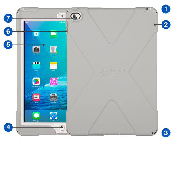 - aXtion Bold Case for iPad Air 2 (Gray/White) - The Joy Factory