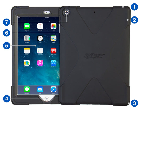 cases - aXtion Bold for iPad 9.7 6th | 5th Generation (Black) - The Joy Factory