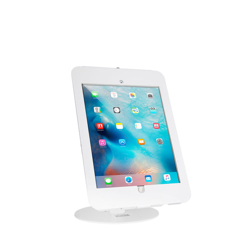 kiosks - Elevate II Countertop Kiosk for iPad Pro 12.9 (White) - The Joy Factory