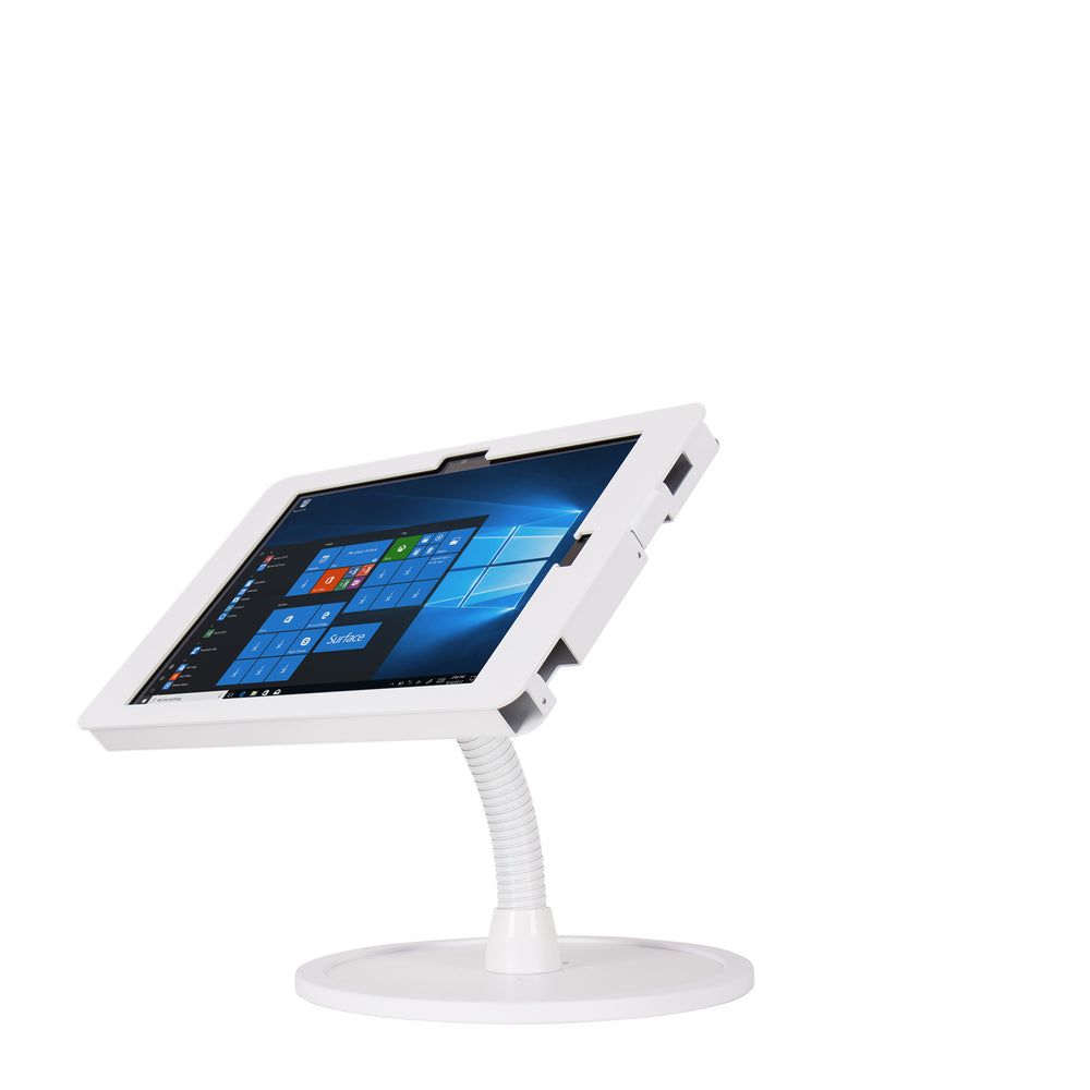 kiosks - Elevate II Flex Countertop Kiosk for Surface Pro 6 | 5 | 4 | 3 (White) - The Joy Factory