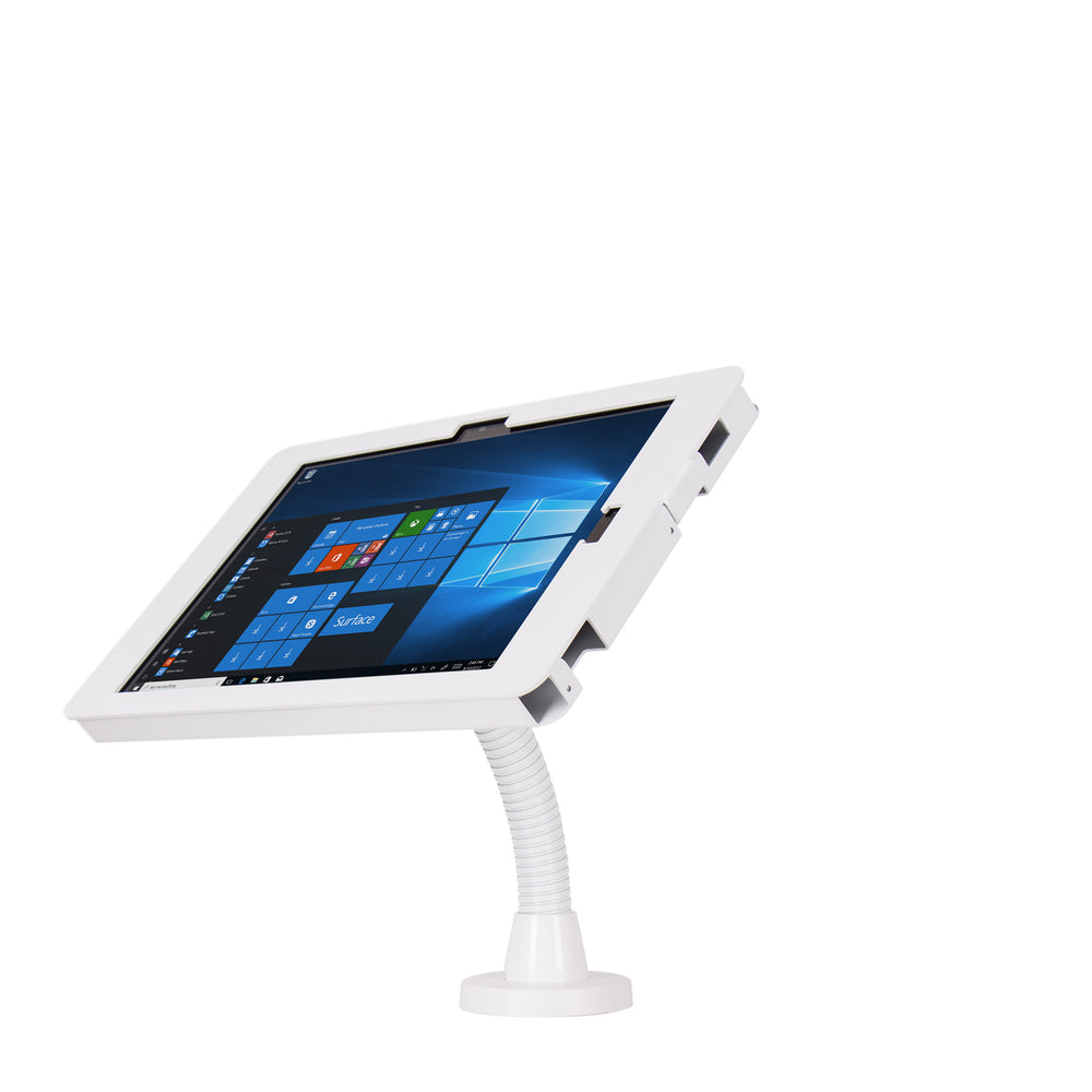 kiosks - Elevate II Flex Drill Down Countertop Mount Kiosk for Surface Pro 7 | 6 | 5 | 4 (White) - The Joy Factory