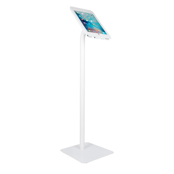 Elevate II Floor Stand Kiosk for iPad Pro 12.9 (White) - The Joy Factory