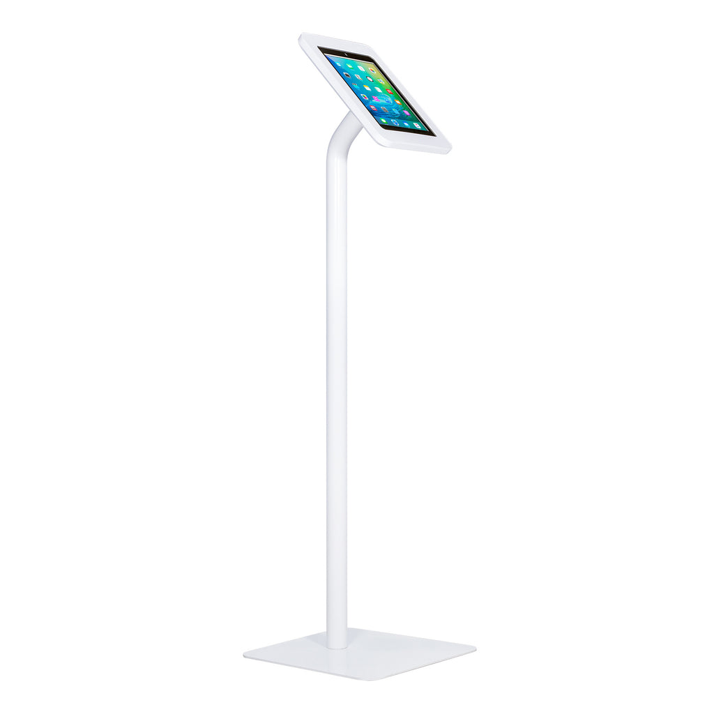 kiosks - Elevate II Floor Stand Kiosk for iPad 9.7 | Air (White) - The Joy Factory