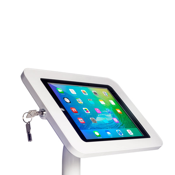 kiosks - Elevate II On-Wall Mount Kiosk for iPad 9.7 6th | 5th Generation | Air (White) - The Joy Factory