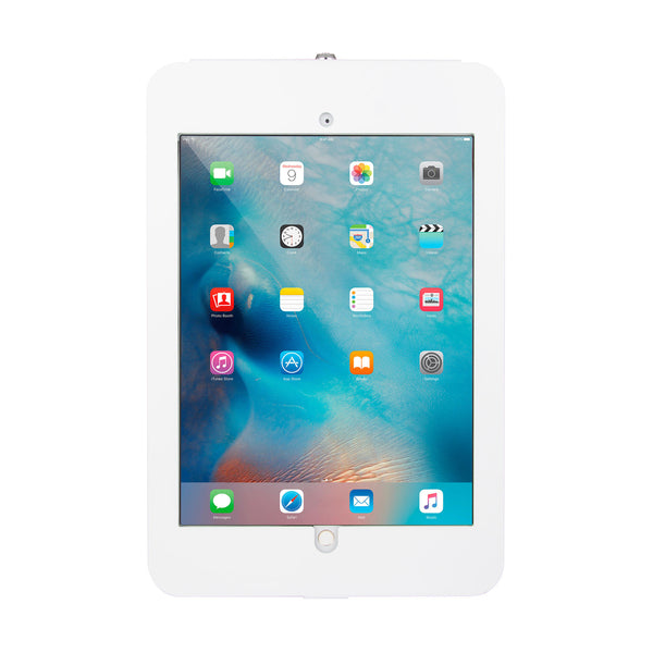 kiosks - Elevate II On-Wall Mount Kiosk for iPad Pro 12.9 (White) - The Joy Factory