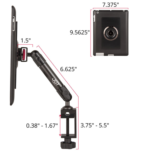 mount-bundles - MagConnect C-Clamp Mount for iPad 4 | 3 | 2 - The Joy Factory