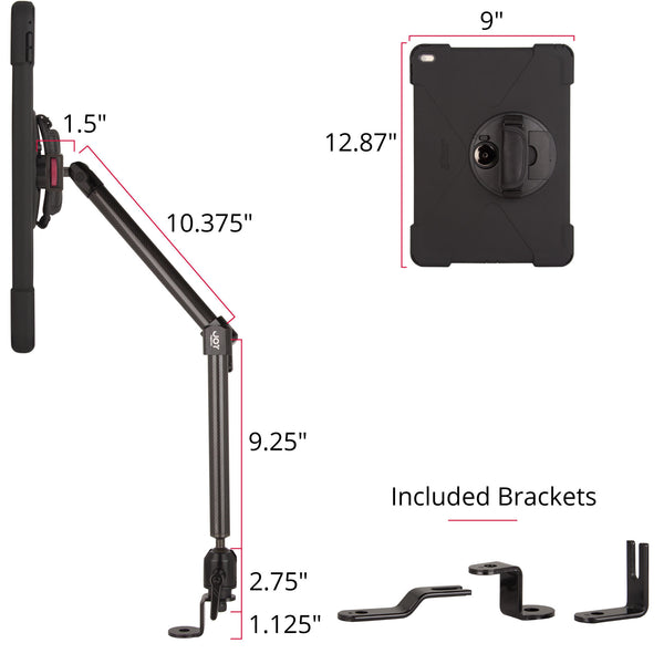 seat bolt mount with rugged case rear view