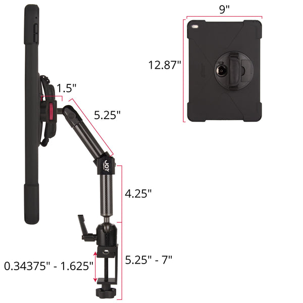 "MagConnect Bold MP C-Clamp Dual Arm Mount for iPad Pro 12.9"" - The Joy Factory"