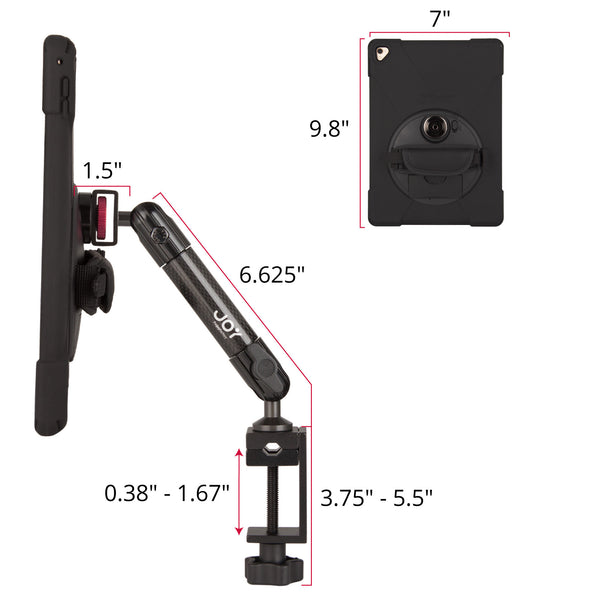 ipad clamp mount with rugged case from The Joy Factory