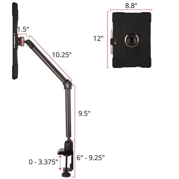 MagConnect Edge M Clamp Mount for Surface Pro 4 - The Joy Factory