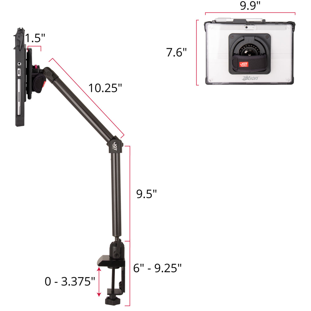 mount-bundles - MagConnect Edge MP Clamp Mount for Surface Go - The Joy Factory