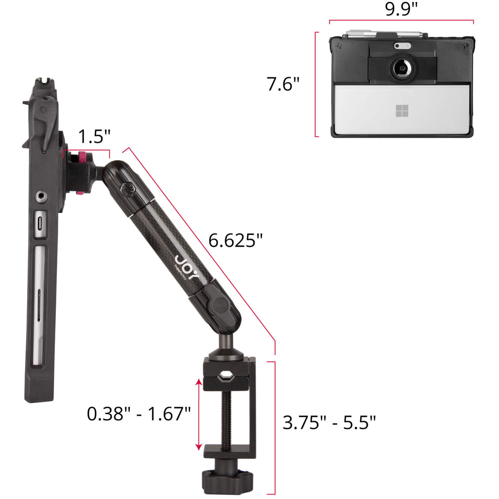 mount-bundles - MagConnect Edge MH C-Clamp Mount for Surface Go - The Joy Factory
