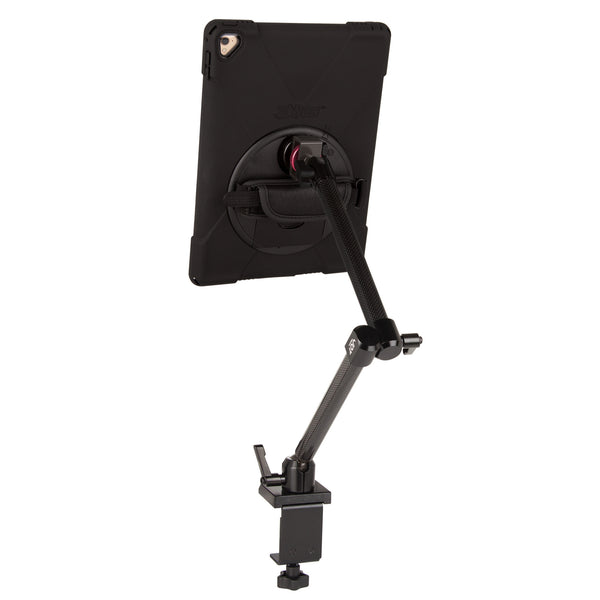 ipad clamp mount with rugged case rear view