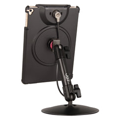 ipad desk stand with locable case