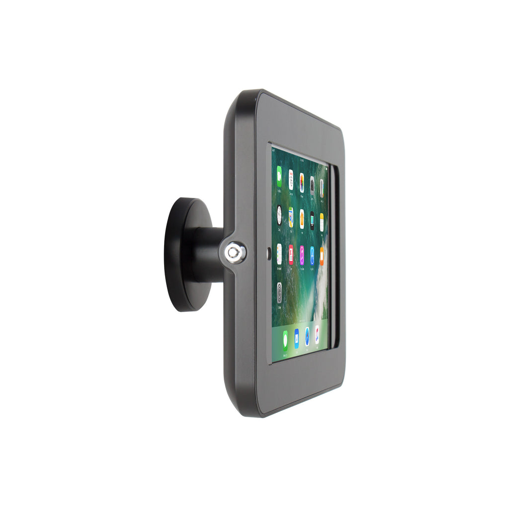 kiosks - Elevate II On-Wall Mount Kiosk for iPad 9.7 5th Generation | Air (Black) - The Joy Factory