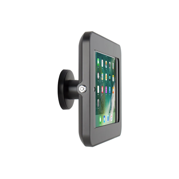 kiosks - Elevate II On-Wall Mount Kiosk for iPad Pro 9.7, Air 2 (Black) - The Joy Factory