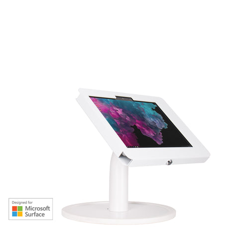 kiosks - Elevate II Countertop Kiosk for Surface Go (White) - The Joy Factory