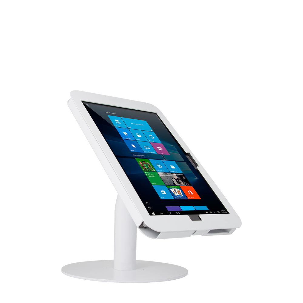 kiosks - Elevate II Countertop Kiosk for Surface Pro 7 | 6 | 5 | 4 (White) - The Joy Factory