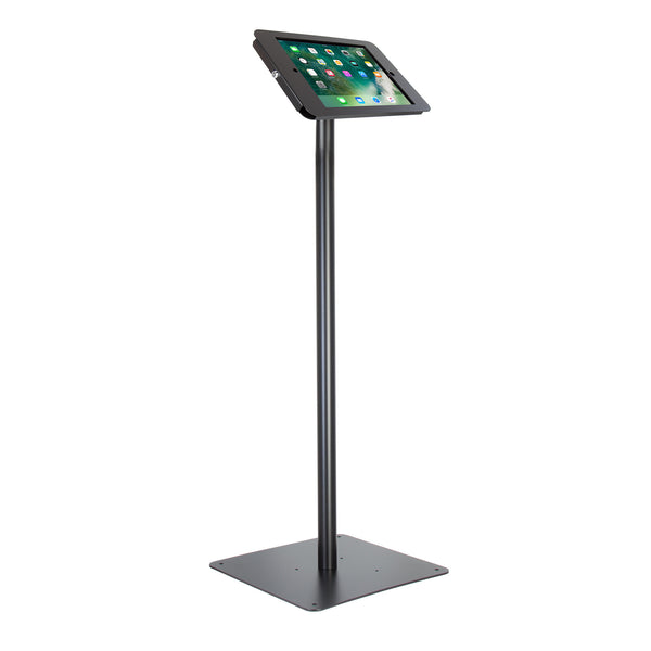 "kiosks - Elevate II Floor Stand Kiosk for iPad Pro 12.9"" (Black) - The Joy Factory"