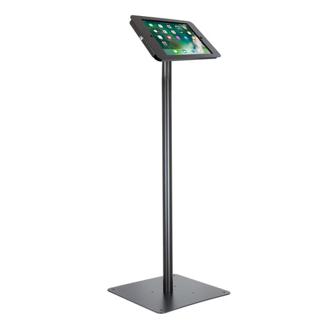 kiosks - Elevate II Floor Stand Kiosk for iPad Pro 12.9 (Black) - The Joy Factory