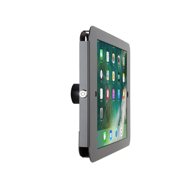 kiosks - Elevate II On-Wall Mount Kiosk for iPad Pro 12.9 (Black) - The Joy Factory