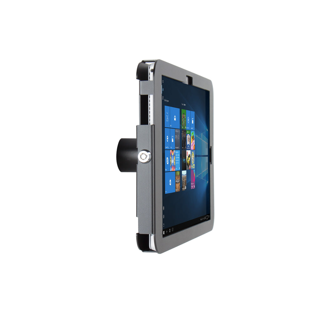 kiosks - Elevate II On-Wall Mount Kiosk for Surface Pro 7 | 6 | 5 | 4 (Black) - The Joy Factory