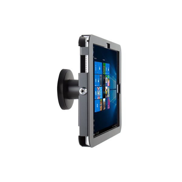 kiosks - Elevate II On-Wall Mount Kiosk for Surface Pro 6 | 5 | 4 | 3 (Black) - The Joy Factory
