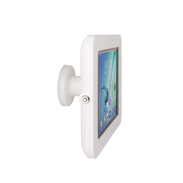 kiosks - Elevate II On-Wall Mount Kiosk for Galaxy Tab S3 | S2 9.7 (White) - The Joy Factory